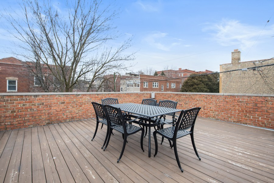 Real Estate Photography - 2153 W Cornelia Ave, Chicago, IL, 60618 - Deck