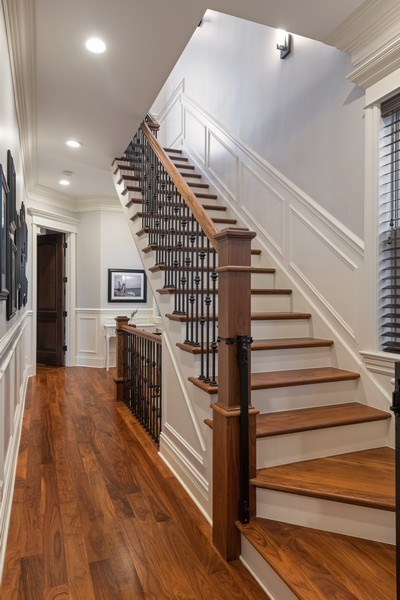 Real Estate Photography - 2153 W Cornelia Ave, Chicago, IL, 60618 - Staircase