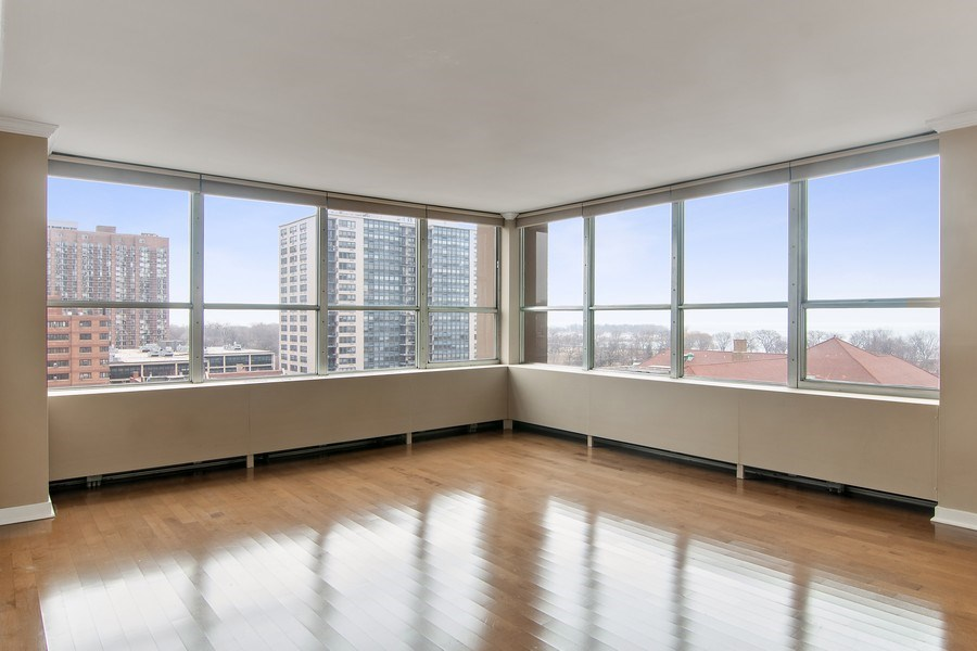 Real Estate Photography - 655 W Irving Park Rd, Unit 910, Chicago, IL, 60613 - Living Room