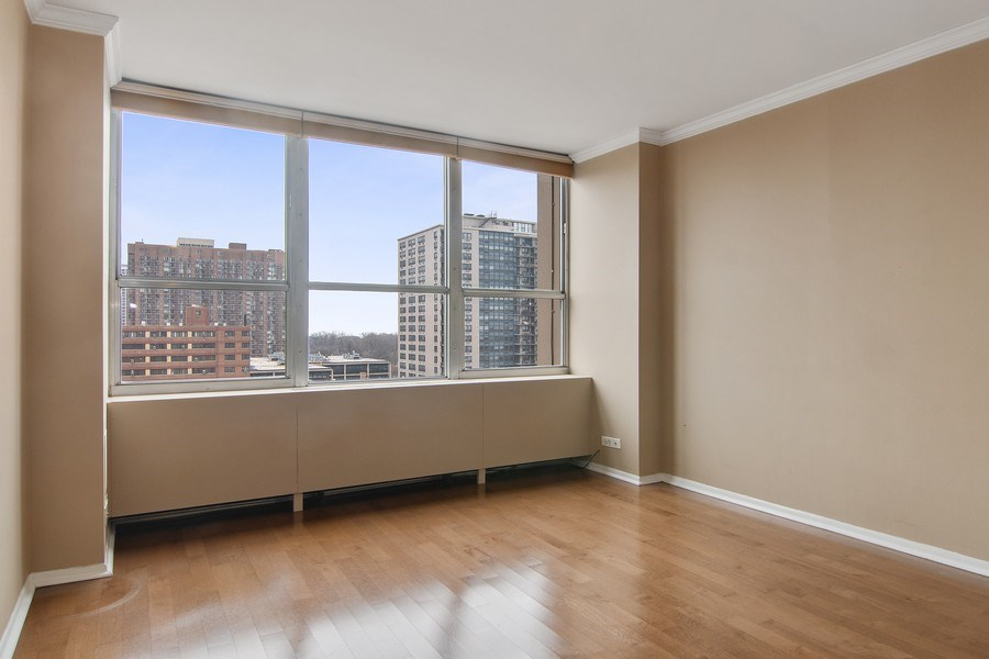 Real Estate Photography - 655 W Irving Park Rd, Unit 910, Chicago, IL, 60613 - Second Bedroom