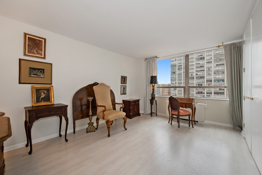 Real Estate Photography - 5701 N Sheridan, Unit 8F, Chicago, IL, 60660 - Bedroom