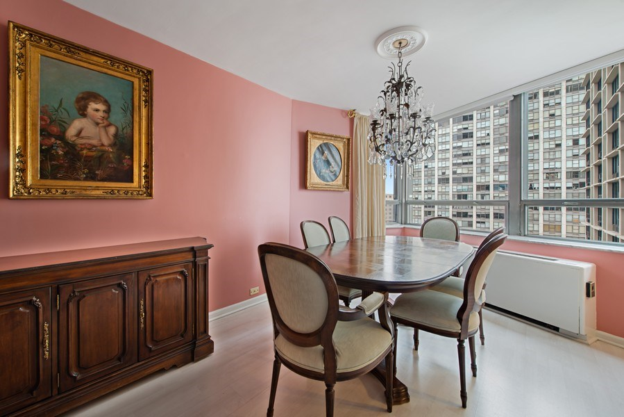 Real Estate Photography - 5701 N Sheridan, Unit 8F, Chicago, IL, 60660 - Dining Room