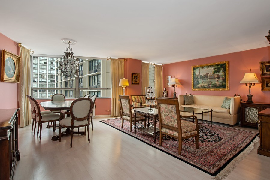Real Estate Photography - 5701 N Sheridan, Unit 8F, Chicago, IL, 60660 - Living Room / Dining Room