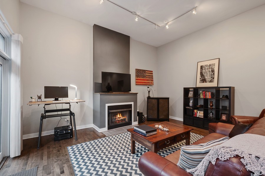 Real Estate Photography - 1222 N Wolcott, Unit 1S, Chicago, IL, 60622 - Living Room