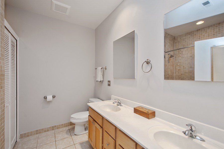 Real Estate Photography - 1222 N Wolcott, Unit 1S, Chicago, IL, 60622 - Master Bathroom