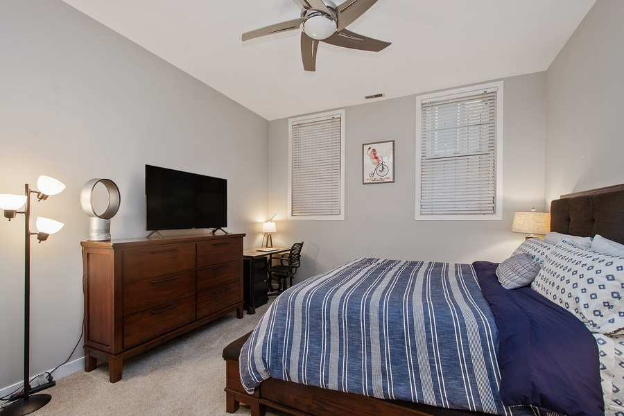 Real Estate Photography - 1222 N Wolcott, Unit 1S, Chicago, IL, 60622 - Master Bedroom
