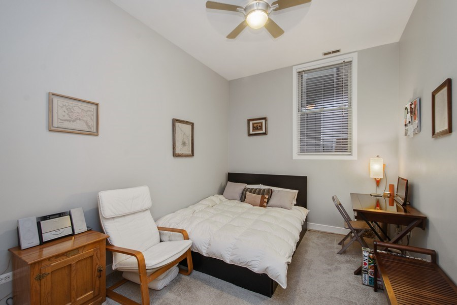 Real Estate Photography - 1222 N Wolcott, Unit 1S, Chicago, IL, 60622 - Bedroom