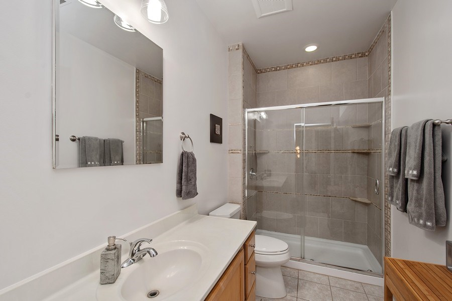 Real Estate Photography - 1222 N Wolcott, Unit 1S, Chicago, IL, 60622 - Bathroom