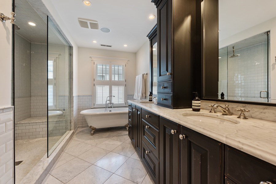 Real Estate Photography - 463 Provident Ave, Winnetka, IL, 60093 - Master Bathroom