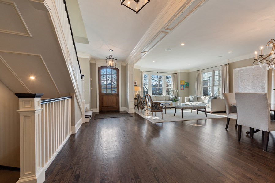 Real Estate Photography - 463 Provident Ave, Winnetka, IL, 60093 - Foyer/Living Room