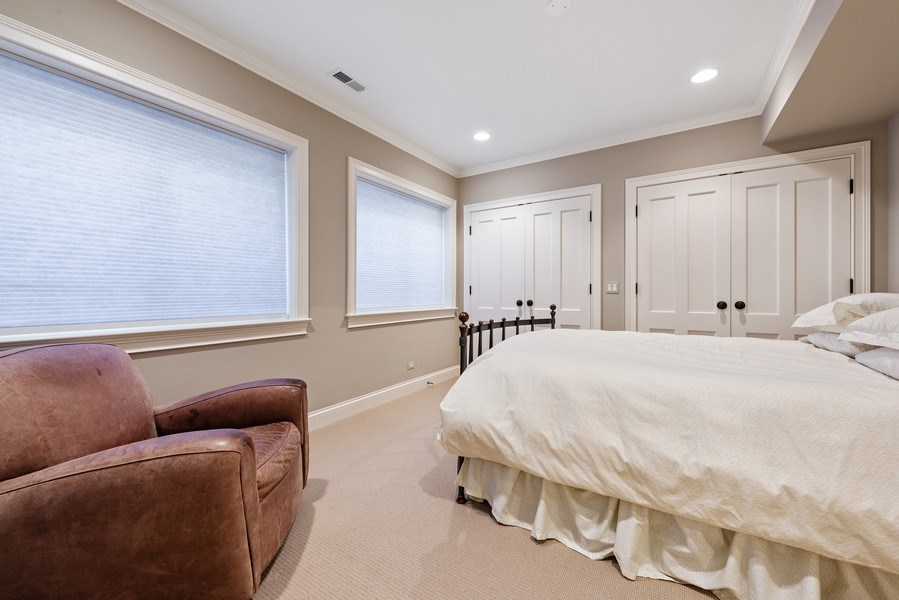 Real Estate Photography - 463 Provident Ave, Winnetka, IL, 60093 - Guest Bedroom