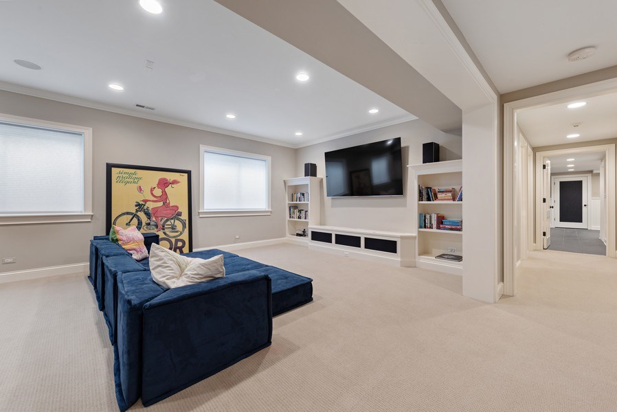 Real Estate Photography - 463 Provident Ave, Winnetka, IL, 60093 - Recreational Room