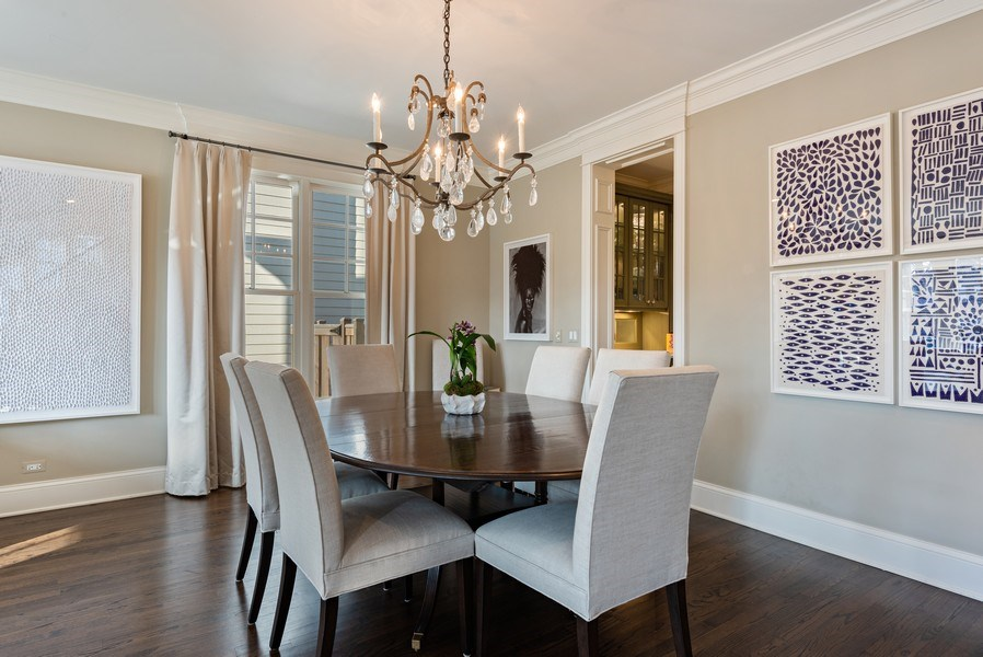 Real Estate Photography - 463 Provident Ave, Winnetka, IL, 60093 - Dining Room