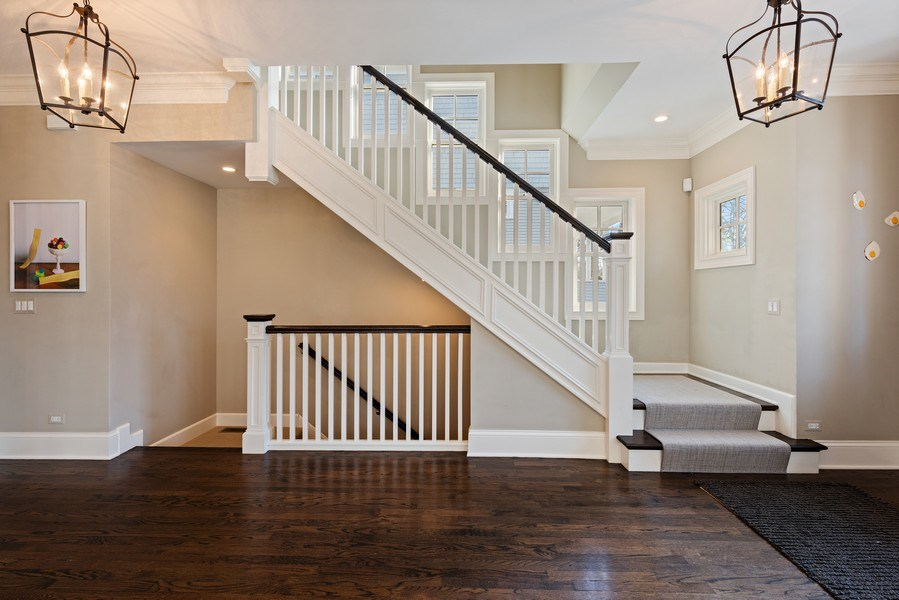 Real Estate Photography - 463 Provident Ave, Winnetka, IL, 60093 - Staircase