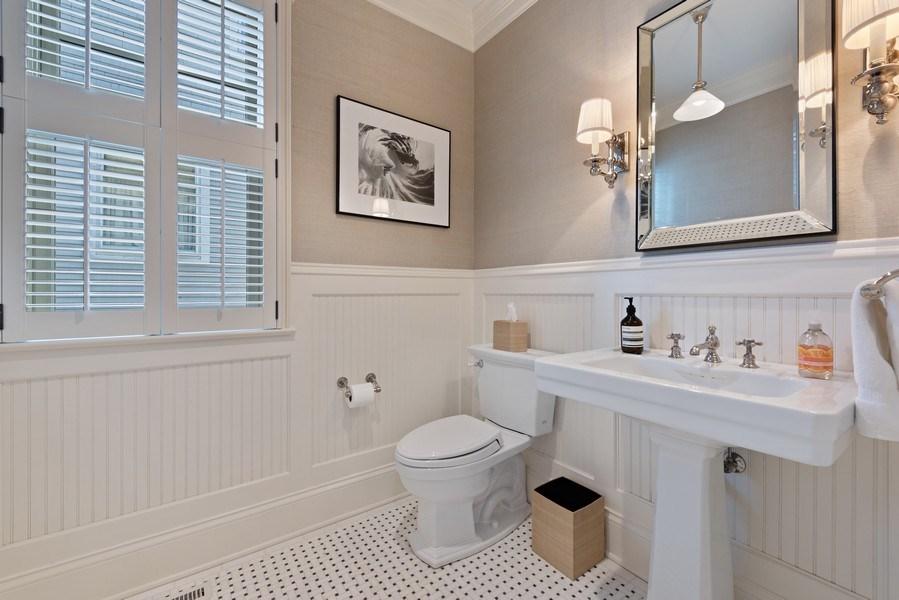 Real Estate Photography - 463 Provident Ave, Winnetka, IL, 60093 - Half Bath