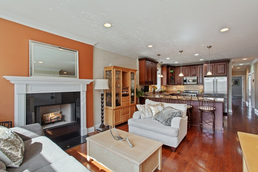 Real Estate Photography - 2444 W Diversey Ave, Unit 1W, Chicago, IL, 60647 - Living Room