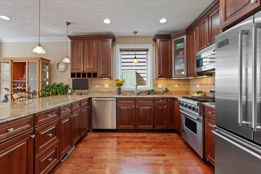 Real Estate Photography - 2444 W Diversey Ave, Unit 1W, Chicago, IL, 60647 - Kitchen