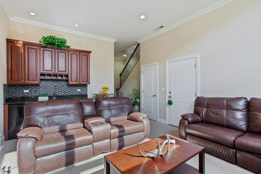 Real Estate Photography - 2444 W Diversey Ave, Unit 1W, Chicago, IL, 60647 - Family Room