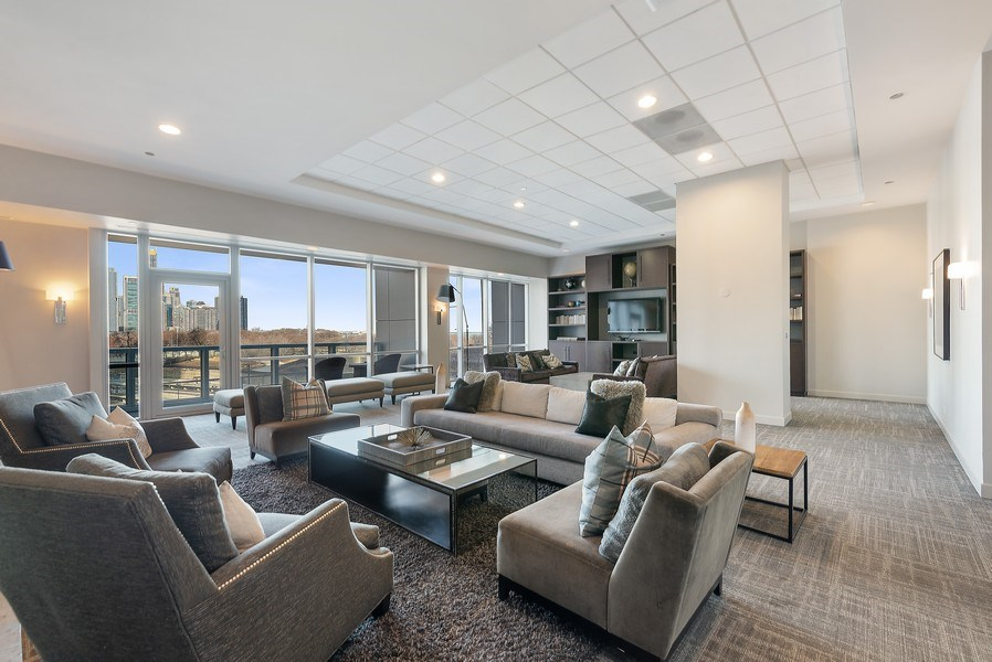 Real Estate Photography - 1201 S Prairie, 3101, Chicago, IL, 60605 - Party Room
