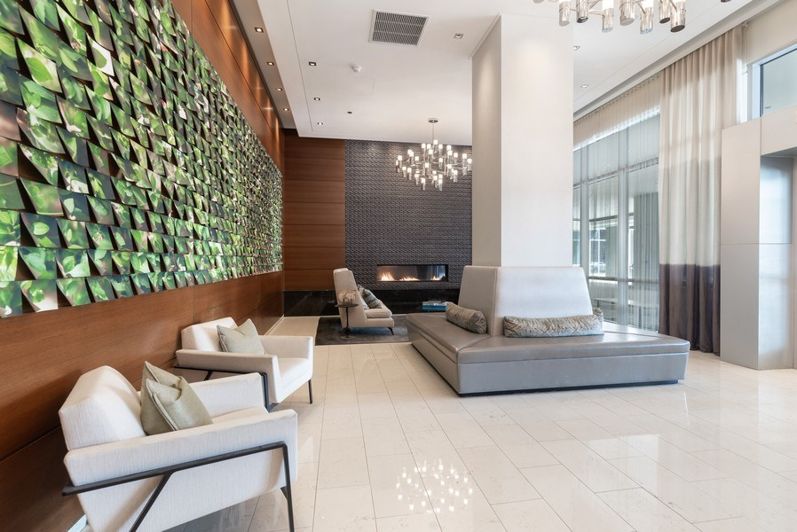 Real Estate Photography - 1201 S Prairie, 3101, Chicago, IL, 60605 - Lobby