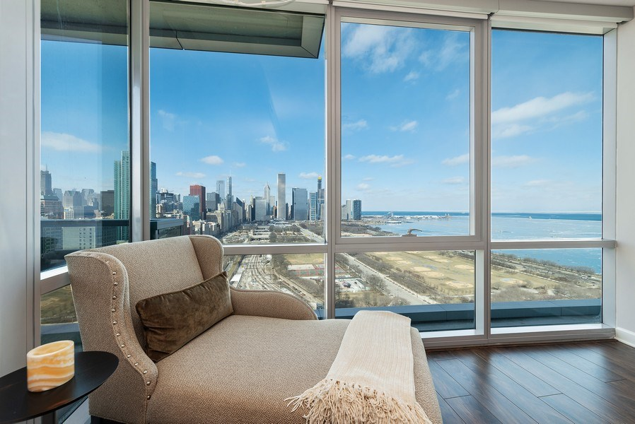 Real Estate Photography - 1201 S Prairie, 3101, Chicago, IL, 60605 - Master Bedroom