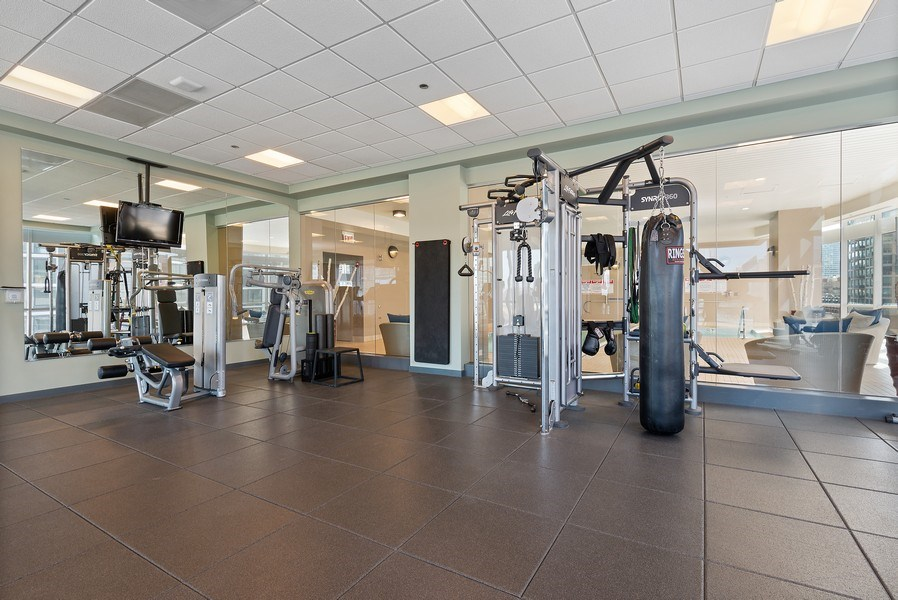 Real Estate Photography - 1201 S Prairie, 3101, Chicago, IL, 60605 - Exercise Room