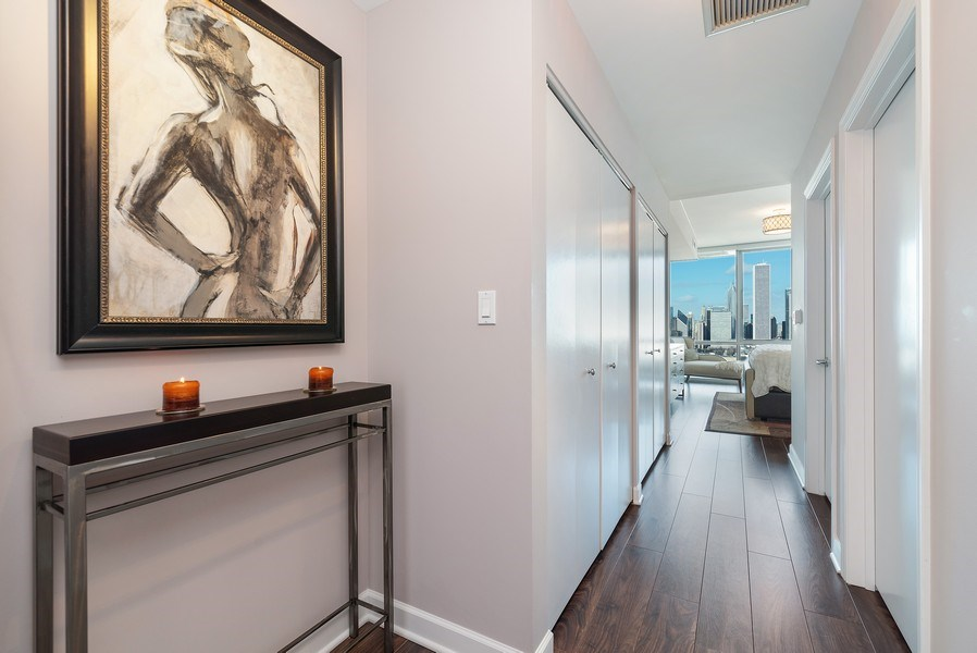 Real Estate Photography - 1201 S Prairie, 3101, Chicago, IL, 60605 - Master Bedroom Entrance