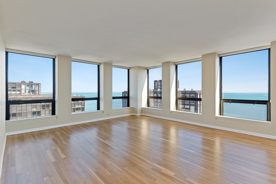Real Estate Photography - 260 E. Chestnut Street, Unit #3206, Chicago, IL, 60611 - Living Room
