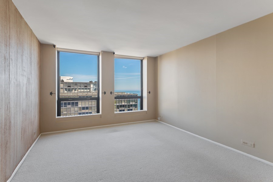 Real Estate Photography - 260 E. Chestnut Street, Unit #3206, Chicago, IL, 60611 - Master Bedroom
