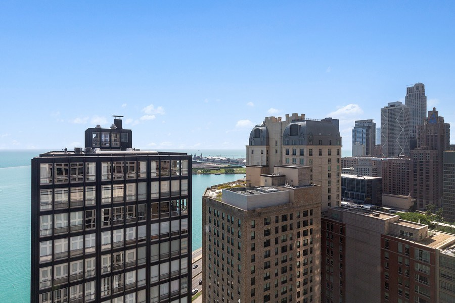 Real Estate Photography - 260 E. Chestnut Street, Unit #3206, Chicago, IL, 60611 - View From Condo Looking East