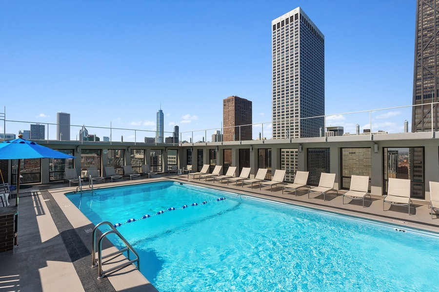 Real Estate Photography - 260 E. Chestnut Street, Unit #3206, Chicago, IL, 60611 - Roof Top Pool