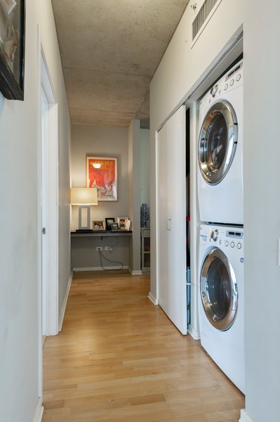 Real Estate Photography - 659 W Randolph, #909, Chicago, IL, 60661 - Laundry Room