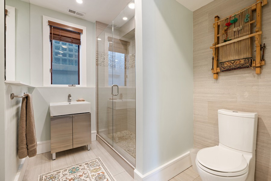 Real Estate Photography - 1720 N Paulina, Chicago, IL, 60622 - 3rd Bathroom