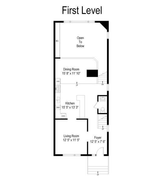 Real Estate Photography - 1720 N Paulina, Chicago, IL, 60622 - Floor Plan