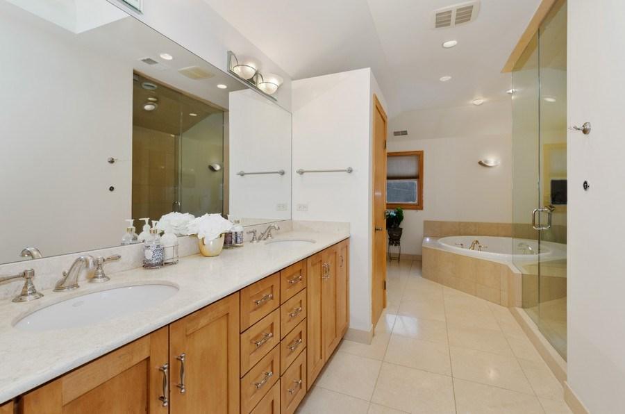 Real Estate Photography - 1238 Glencoe Avenue, Highland Park, IL, 60035 - Master Bathroom