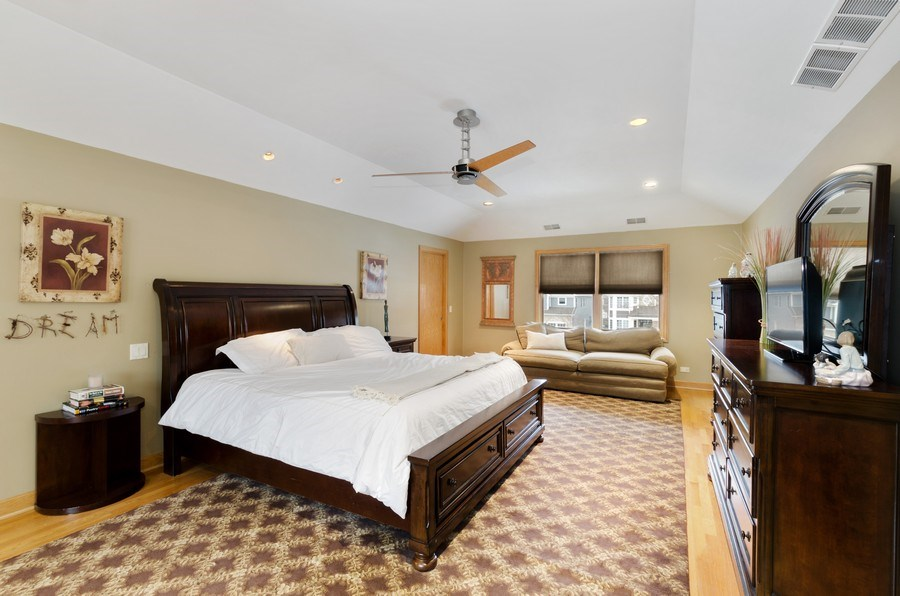 Real Estate Photography - 1238 Glencoe Avenue, Highland Park, IL, 60035 - Master Bedroom