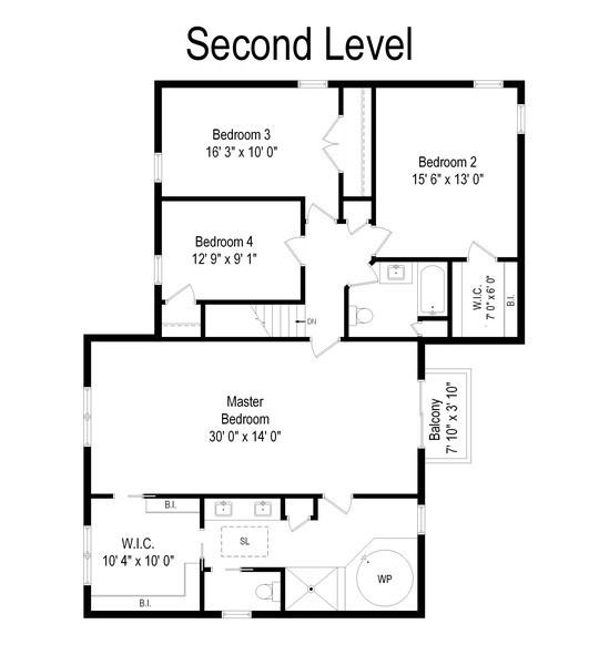 Real Estate Photography - 1238 Glencoe Avenue, Highland Park, IL, 60035 - Floor Plan