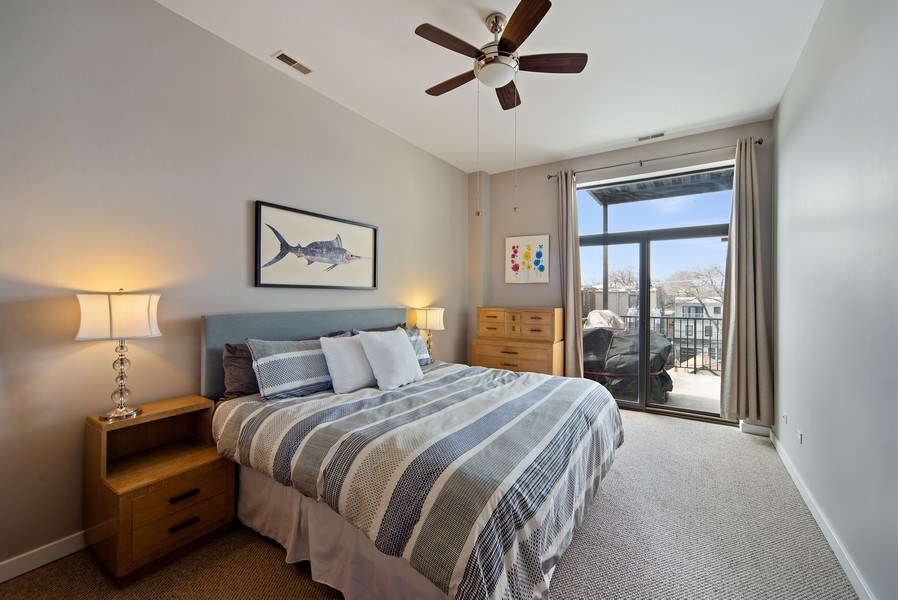 Real Estate Photography - 4420 N. Clark, #305, Chicago, IL, 60640 - Master Bedroom