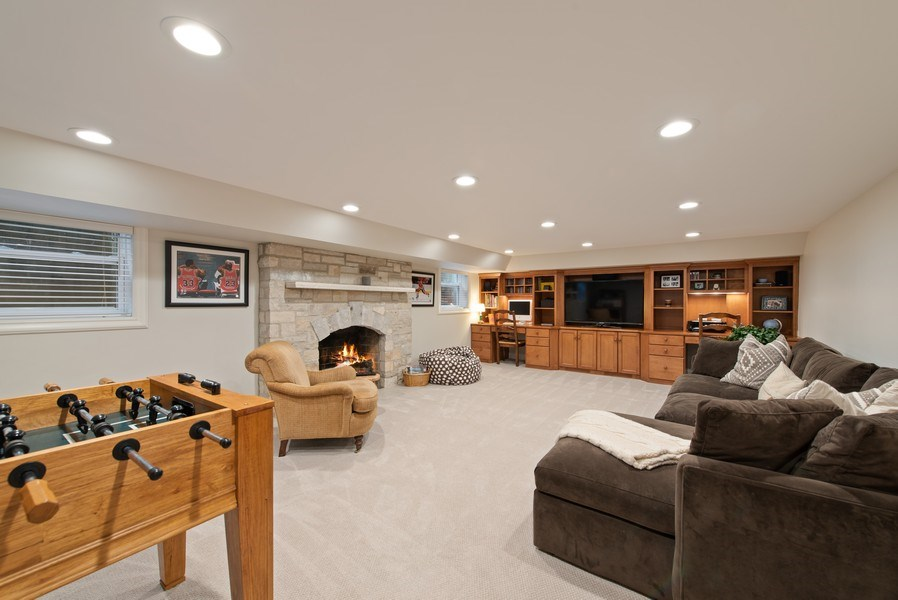 Real Estate Photography - 1200 Spruce, Winnetka, IL, 60093 - Recreational Room