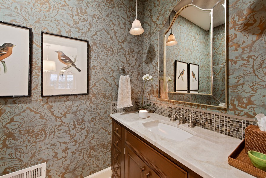 Real Estate Photography - 1200 Spruce, Winnetka, IL, 60093 - Powder Room