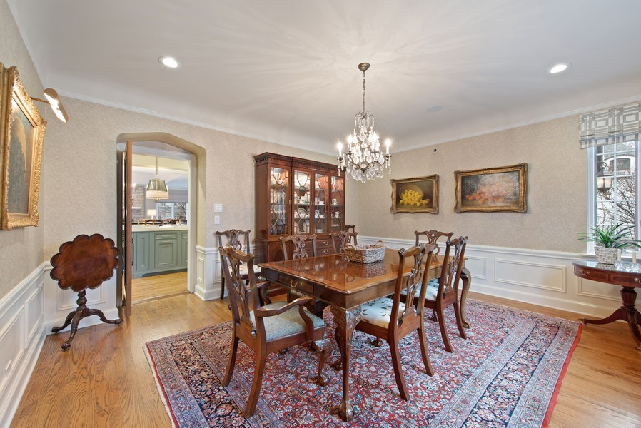 Real Estate Photography - 1200 Spruce, Winnetka, IL, 60093 - Dining Room