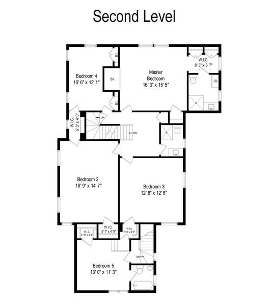 Real Estate Photography - 1200 Spruce, Winnetka, IL, 60093 - Floor Plan