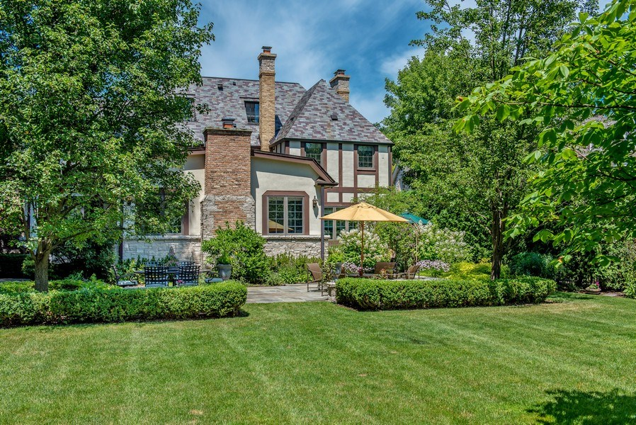 Real Estate Photography - 1200 Spruce, Winnetka, IL, 60093 - Summer Rear view