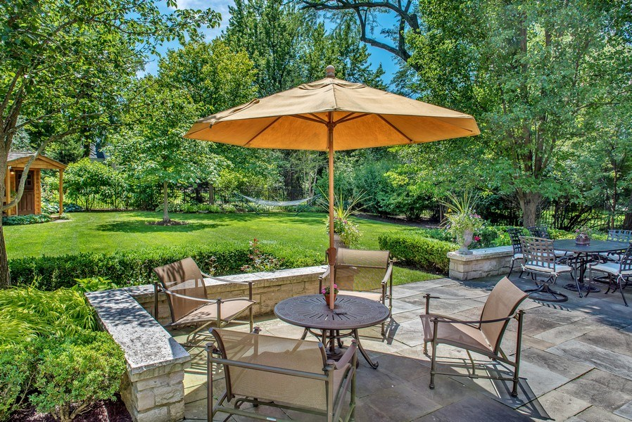 Real Estate Photography - 1200 Spruce, Winnetka, IL, 60093 - backyard summer