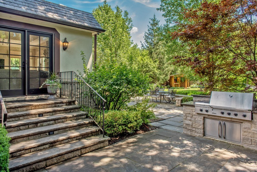 Real Estate Photography - 1200 Spruce, Winnetka, IL, 60093 - summer outdoor kitchen area