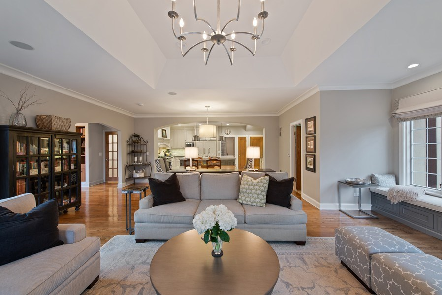 Real Estate Photography - 1200 Spruce, Winnetka, IL, 60093 - Family Room / Kitchen