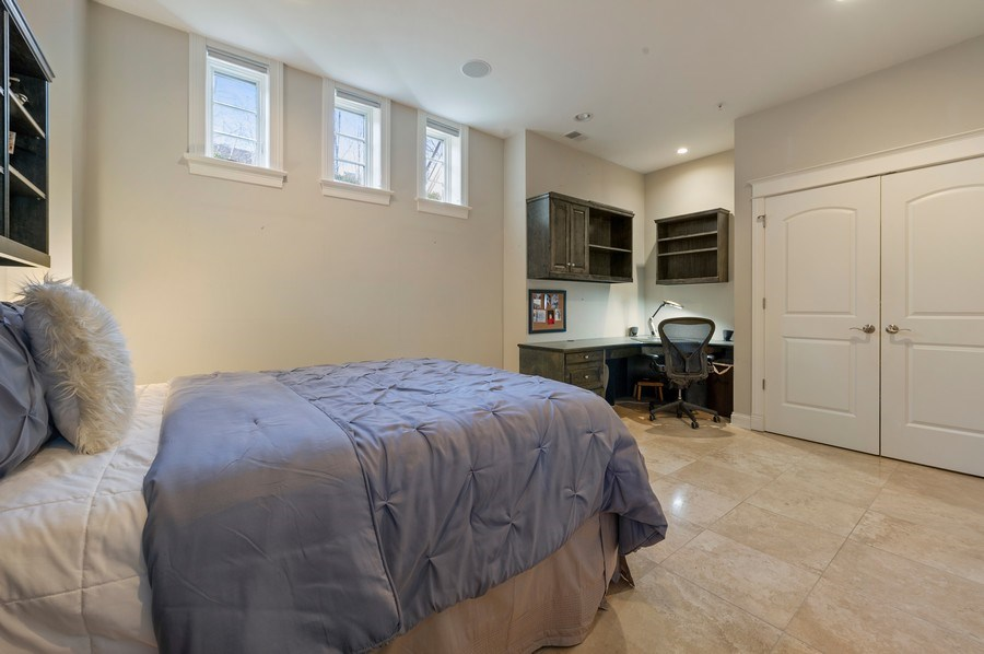 Real Estate Photography - 2309 N. Janssen Ave., Chicago, IL, 60614 - Lower Level 5th Ensuite Bedroom