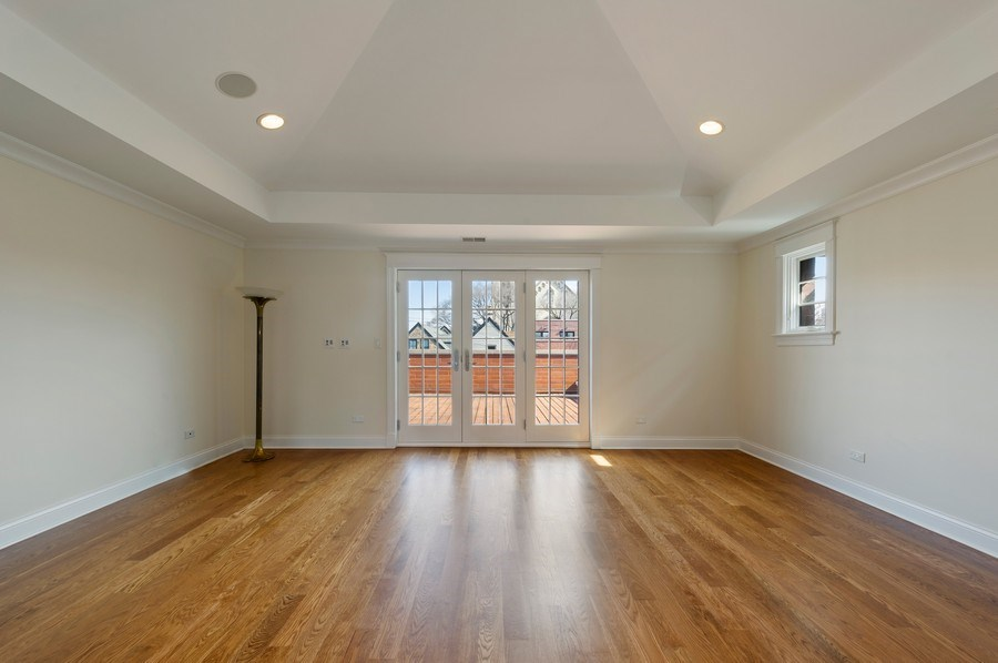 Real Estate Photography - 2309 N. Janssen Ave., Chicago, IL, 60614 - 3rd Floor Rec Room - Access to Roof Deck
