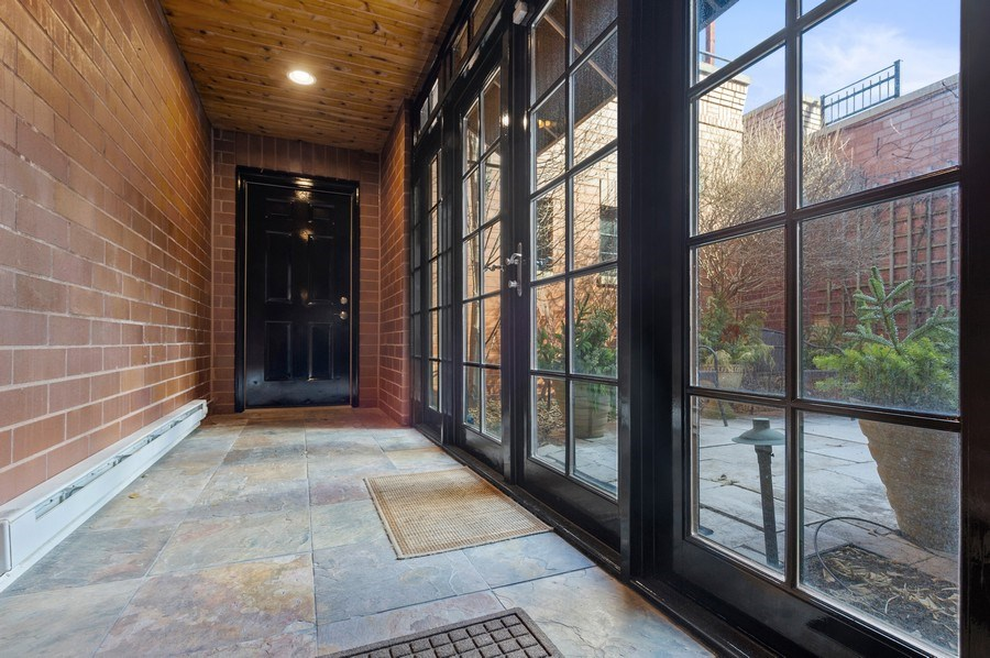 Real Estate Photography - 2309 N. Janssen Ave., Chicago, IL, 60614 - Breezeway to attached garage  - access to backyard