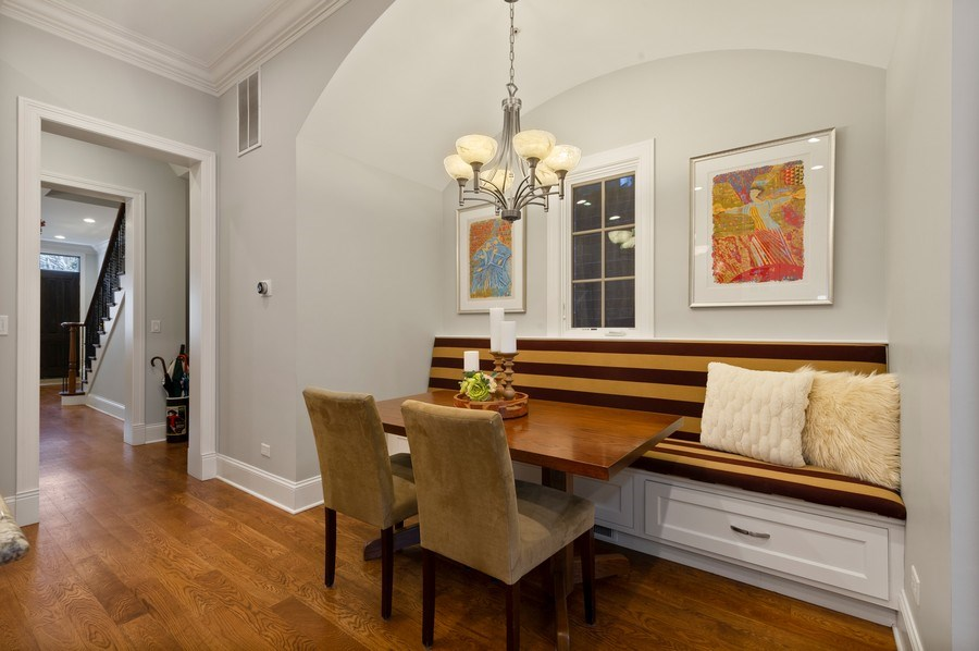Real Estate Photography - 2309 N. Janssen Ave., Chicago, IL, 60614 - Breakfast Nook